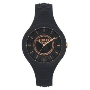 NWT Versace Black silicone watch